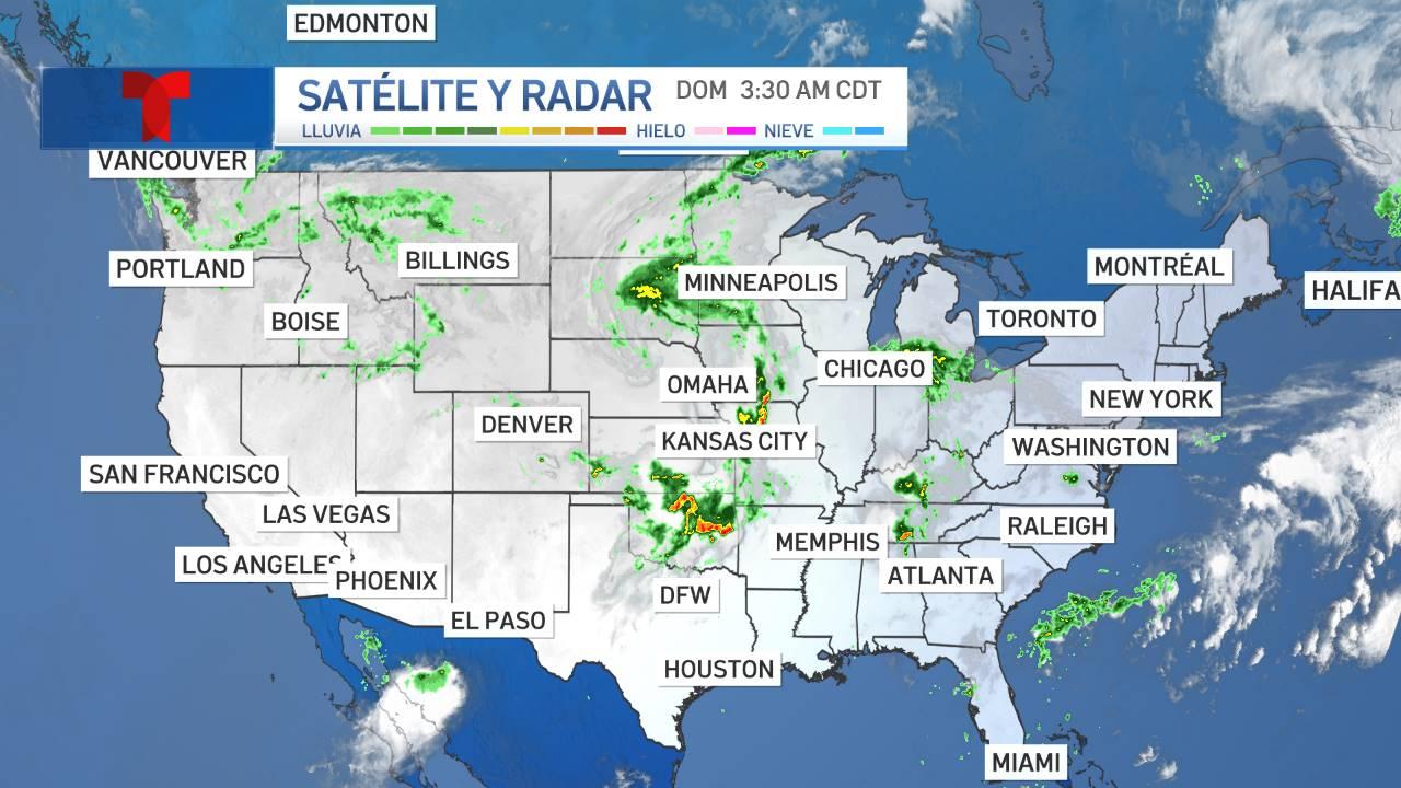 Satélite y radar: condiciones del tiempo EEUU